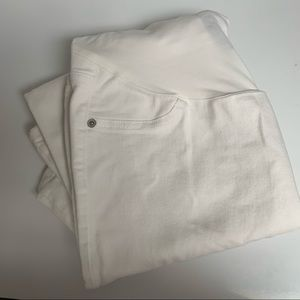 [2/35$] White Skinny Maternity Pants 🤰🏼